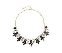 Halskette, schwarz/silber, Damen