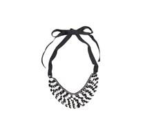 Halskette, schwarz/weiß, Damen