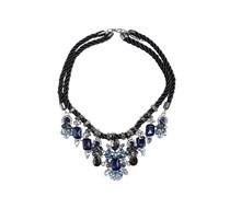 Halskette, blau, Damen