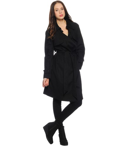 mexx damen trenchcoat schwarz damen 50 reduziert. Black Bedroom Furniture Sets. Home Design Ideas