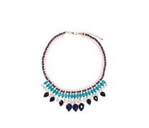 Halskette, blau/silber, Unisex