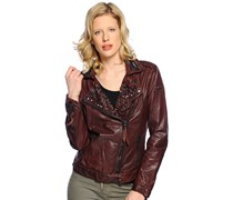 Lederjacke, bordeaux, Damen