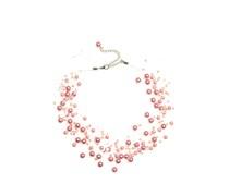 Halskette, rosa, Damen