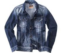 Herren Replay Jeansjacke jeansblau blau unifarben Trendig