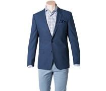 Herren HUGO BOSS Sakko Hutch4 blau unifarben Elegant,Klassisch,Trendig
