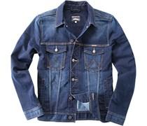 Herren Wrangler Jeans-Jacke tough talking blau meliert,meliert Sportiv,Trendig,Fashion