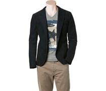 Herren BOSS Orange Cord-Sakko blau unifarben Sportiv,Trendig,Fashion