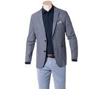 Herren HUGO BOSS Sakko Norell-W blau gemustert,mit Muster Klassisch
