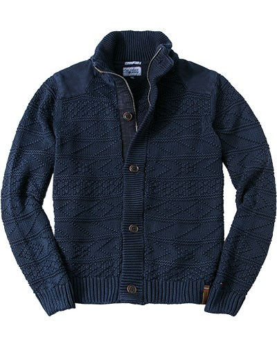 herren hilfiger denim cardigan blau unifarben fashion. Black Bedroom Furniture Sets. Home Design Ideas