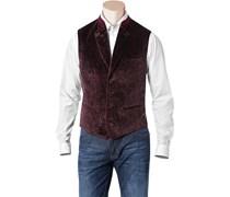 Herren HUGO BOSS Samt-Weste Gustl1 rot,rot Paisley,Paisleymuster,Paisley Klassisch,Klassisch,Trendig