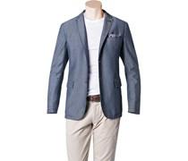 Herren BOSS Orange Sakko Benefit6-W blau gemustert,mit Muster Klassisch,Fashion