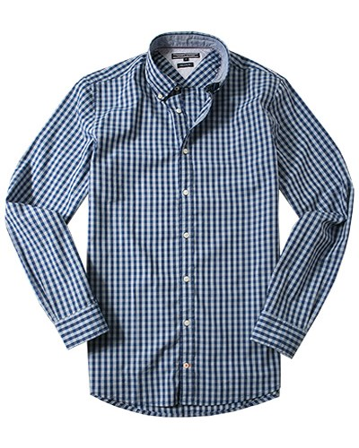 pin herren hemd tommy hilfiger blau wei kariert on pinterest. Black Bedroom Furniture Sets. Home Design Ideas