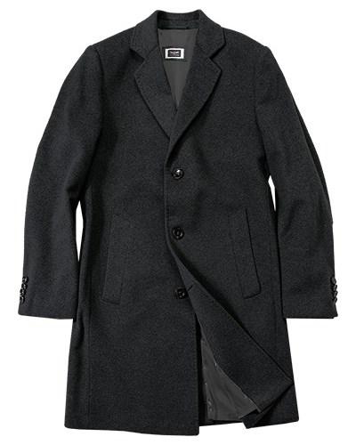 bugatti herren herren bugatti mantel schwarz grau meliert. Black Bedroom Furniture Sets. Home Design Ideas