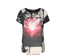 BOSS ORANGE Shirt Tawood Farbe: schwarz/rot/créme