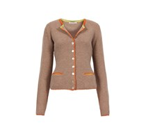 made in heaven Strickjacke German Janker Mit Cashmere Farbe: beige/orange