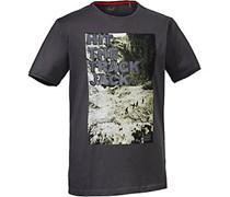 Jack Wolfskin Track T Men Printshirt Herren, grau