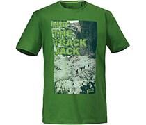 Jack Wolfskin Track T Men Printshirt Herren, grün