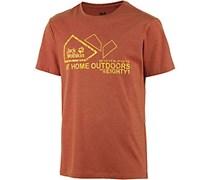 Jack Wolfskin Musgrove Printshirt Herren, orange