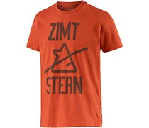 Zimtstern Blockslash Printshirt Herren in orange