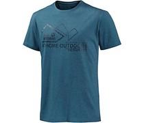 Jack Wolfskin Musgrove Printshirt Herren, blau
