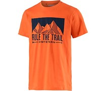 Zimtstern Rule Printshirt Herren in orange