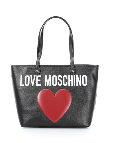 moschino damen love moschino handtasche jc4168pp00kg0 nero 20 reduziert. Black Bedroom Furniture Sets. Home Design Ideas