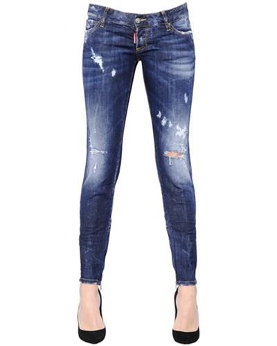 dsquared damen dsquared2 enge jeans aus denim im. Black Bedroom Furniture Sets. Home Design Ideas