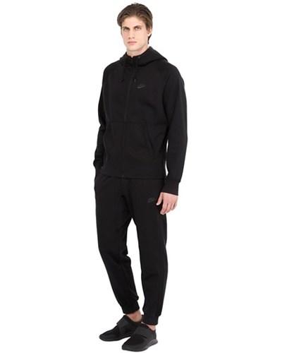 nike trainings anzug aus baumwolle mit logodetail schwarz. Black Bedroom Furniture Sets. Home Design Ideas