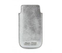 Miu Miu - Etui für iPhone 5 aus Metallic-Leder