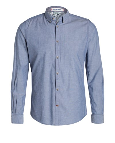 tom tailor herren tom tailor hemd ray flower slim fit 50. Black Bedroom Furniture Sets. Home Design Ideas