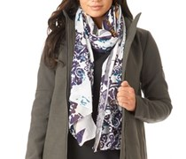 Pieces Womens Rulla Long Scarf Whitecap Gray/Nightshade Whitecap Gray/Nightshade