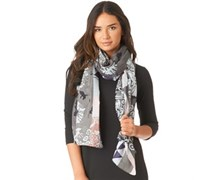 Pieces Womens Rulla Long Scarf Castlerock/Ballad Blue Castlerock/Ballad Blue