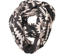 Pieces Womens Rizta Tube Scarf Black/Elephant Black/Elephant