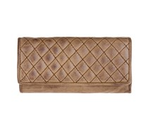 Geldbeutel Wallet Wave in dark camel von FREDsBRUDER