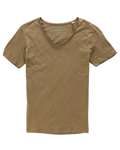 esprit herren esprit t shirt flammgarn rollsaum 38 reduziert. Black Bedroom Furniture Sets. Home Design Ideas