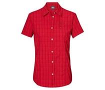 Jack Wolfskin Damen-Bluse Centaura  Damen Rot V-Ausschnitt