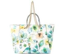 GUESS Handtasche Nikki, weiß-grün Damen Weiß allover gemustert