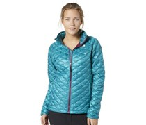 THE NORTH FACE Steppjacke W Thermoball Fullzip Jacket, für Damen Damen Türkis uni Langarm