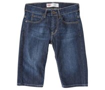 Levi's Jeans-Bermuda Indigo, 511®, slim fit, Kontrastnähte Jungen Blau uni Mittellang