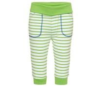s.Oliver Hose, Streifen-Design, Gesäßtasche, Umschlagbund Baby Grün gestreift Lang