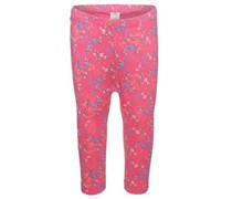 s.Oliver Leggings, florales Muster, Gummizug im Bund Baby Pink allover gemustert Lang
