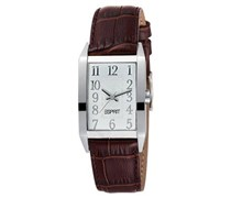 Esprit Damenuhr Fundamental Silver Brown Braun