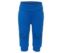 s.Oliver Hose, breiter Rippen-Bund, Frosch-Stickereien Baby Blau uni Lang