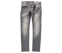 Five-Pocket-Jeans Pep-325 regular von LEMMi, Used-Look, grey-used  Jungen Grau uni Lang