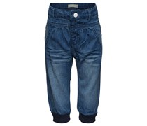 "name it ""Geolina"" Jeans, verstellbarer Innenbund, blumige Stickereien"