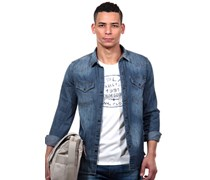 REPLAY Langarm Jeanshemd regular fit