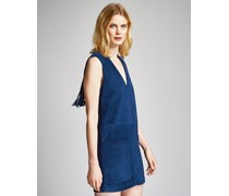 Brigitte Fransenkleid blue