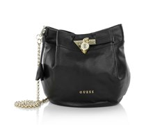 Guess Karlie Small Drawstring Black Handtaschen