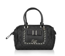 Guess Dolled Up Retro Satchel Black Handtaschen