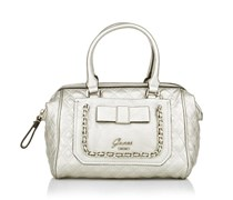 Guess Dolled Up Frame Satchel Silver Handtaschen